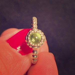 Pandora Stackable Peridot Birthstone Ring